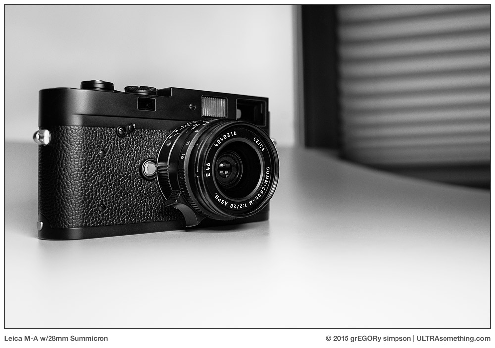 Applied Relativity: The Leica M-A :: ULTRAsomething